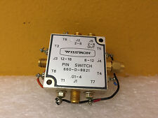 Wiltron 660-D-8821, 10 MHz to 18 GHz, SMA (M-F) Microwave Pin Switch, For 66XX