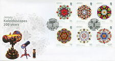 Jersey 2017 FDC Kaleidoscopes Seashells Fish Bees Wild Flowers 6v Cover Stamps
