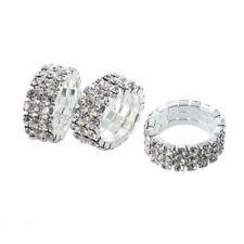 3 X Elastic Toe Ring Bridal Jewelry 3-row Rhinestone 9mm -silver F9e5 B3 9f3202f10347