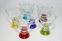 6pc Set of Ice Cream Glasses Cup Bowls Dessert  Sundae Fruit Trifle Punch ORN319
