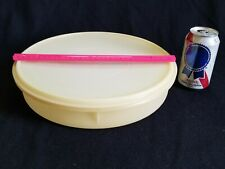 USED Sheer Tupperware #242 Cupcake Pie Storage Container w/ Lid #224