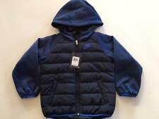 NWT NIKE TODDLER BOYS NAVY COMFY SLEEVES ZIPPERED HOODIE JACKET $80  SZ 6