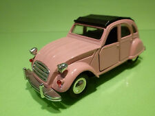 CHINA SS9302 CITROEN 2CV 2 CV - PINK 1:32 - RARE SELTEN - GOOD - FRICTION