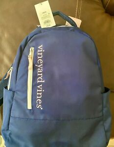 New With Tags Vineyard Vines for Target Large Backpack Bag Navy Pink