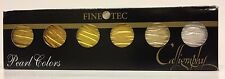 Finetec M600 Artist Mica Watercolor Paint Metallic Gold (6-Color/Set) - New