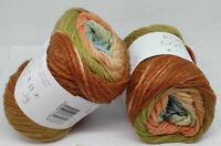 100g POEMA COTTON Laines du Nord Gradient 204 Farbverlauf Baumwolle Strickgarn
