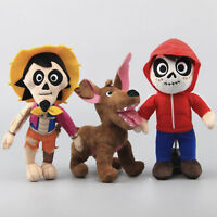 3pc Cartoon Coco Dante & Hector & Miguel Stuffed Plush Doll Figure Toy Xmas Gift