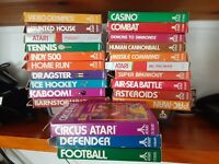 Atari 2600 23 Game Lot Mostly CIB Kaboom Missile Command Dragster Asteroids