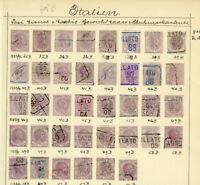 Italy Stamps Revenue 38x 1882 Vintage all identified on page