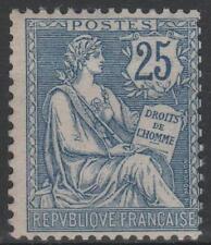 "FRANCE STAMP TIMBRE 127  "" MOUCHON RETOUCHE 25c  BLEU 1902 ""  NEUF xx LUXE M580"