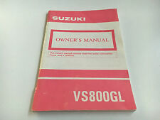 Suzuki VS 800 GL Owner's manual (1992)