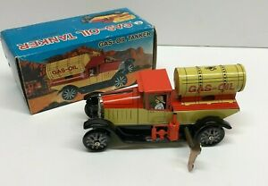 SUPT Wind Up Tin Litho Gas Oil Tanker Truck