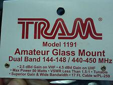 MOTOROLA Glass Mount ANTENNA 144 148 & 440 450 MHz VHF UHF DUAL BAND Mini U MUHF