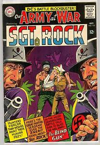 OUR ARMY AT WAR SGT ROCK 159 8.0 NICE PAGES NM DARK COVER  NN