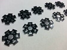 10pcs. 20mm Black Star 1-3 Watt LED Aluminum  Heatsink Same day shipping USA