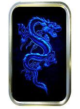 Blue Dragon 1oz Gold Tobacco Tin, Pill Tin, Stash Can, Small Pocket Tin