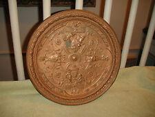 Antique Bronze Plate Of Angels & Cherubs-Raised Demons-Victorian Bronze-ODD