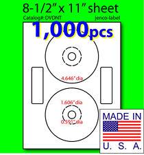 1,000 Neato Compatible CD/DVD Labels, Matte White Laser InkJet