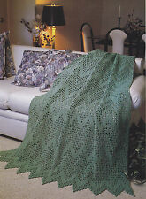 Crochet Pattern ~ FILET RIPPLE AFGHAN ~ Instructions