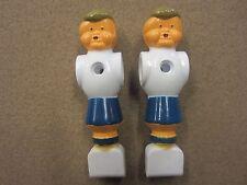 2 Painted Blue Foosball Fussball Men w/ FREE Shipping