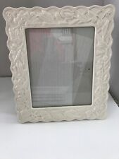 Picture Frame White Ivy Ceramic with glossy finish looks proclien 8 x10