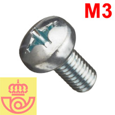(lote 20pcs) Tornillo acero M3 5mm cabeza Philips (Arduino, prototipos, PCB)