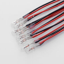 8 x 8V 50mA 0,4W / Birne Lampe / Miniature Lamp Bulb / T1 / 3mm x 7mm + Kabel