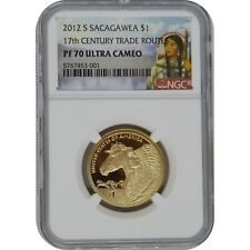 2012 S Sacagawea Proof One Dollar Coin NGC PF70 UC 17th Century Trade Routes