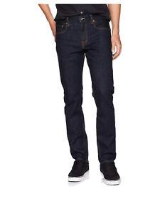 $55 Quiksilver Men's Aqua Cult Rinse Regular Fit Jeans Indigo Blue Size 38X32