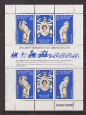 QEII 25th Anniversary Coronation 1978 MNH Stamp Sheet Falkland SG MS348a