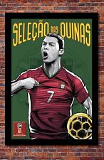 2018 World Cup Soccer Russia | TEAM PORTUGAL Poster | 13 x 19 inches