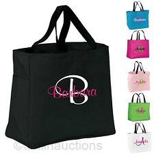 Personalized Tote Bag Monogram Bride Bridesmaid Gift Wedding Teacher Nurse Cheer