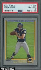 2001 Topps #328 Drew Brees San Diego Chargers RC Rookie PSA 8 NM-MT