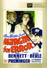 Margin For Error 1943 (DVD) Joan Bennett, Milton Berle, Otto Preminger - New!