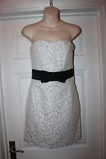 Ladies H&M Ivory Lace Dress Size 8 Corset Wedding Cocktail Party