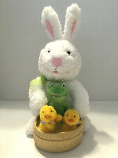 "HALLMARK ""At The Hop"" Spring Quartet Easter Bunny & Chicks Animated Singing"