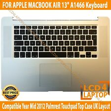 "APPLE MACBOOK AIR 13"" A1466 2013 2014 Palmrest Touchpad Top Case Keyboard UK"