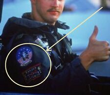 FANCY DRESS HALLOWEEN COSTUME PARTY PROP: AS MOVIE TOP GUN GOOSE 2-PATCH SET