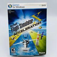 Microsoft FLIGHT SIMULATOR Acceleration Expansion Pack Windows PC Game No Manual