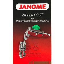 Janome Zipper Foot #200334002 For Memory Craft Embroidery High Shank Machines