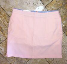 NWT Greg Norman LPGA Golf Skirt Skort Pin Stripe Bottoms White Orange Women's 10