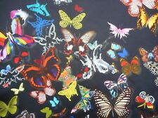Designers Guild Curtain Fabric BUTTERFLY PARADE 0.6 METRES Oscuro 100%25 Cotton