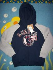 G-Unit Hoodie Boys Zip Front 4 Sweatshirt Track Navy Gray G-Unit Co 50 Ribbed