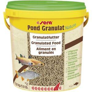 1.8kg Sera Pond Granulat 10L BULK Staple Fish Food for Pond Goldfish Koi Fish