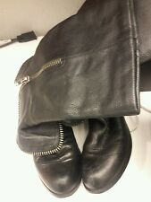 Womens Black Leather Riding Boots - size 8 Medium