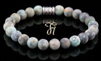 Afrik. Türkis Armband Bracelet Perlenarmband Buddha grün matt 8mm