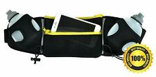 Ultra-Light 2-Bottle Hydration Belt for Running Zip Pouch fits All Phones