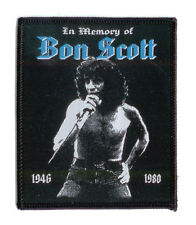 BON SCOTT Aufnäher IN MEMORY ♫ Rarer Tribute Patch ♫ black border edition ♫ ACDC