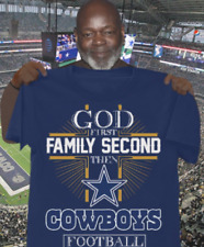 God first Family second then cowboys football tshirt