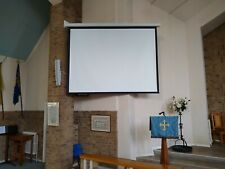More details for motorised projector screen 6' x 8' full working order